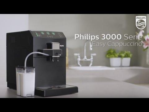 philips 3000 easy cappuccino hd8829 cappuccino kaffee und espresso auf knopfdruck youtube. Black Bedroom Furniture Sets. Home Design Ideas