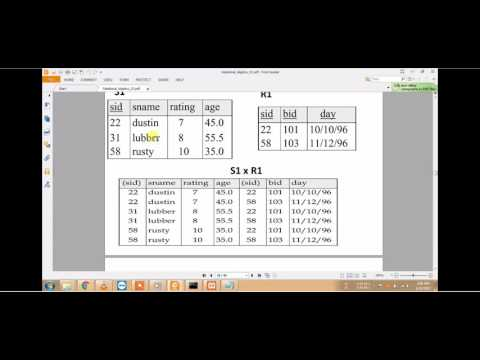 Relational Algebra || Cross and Join