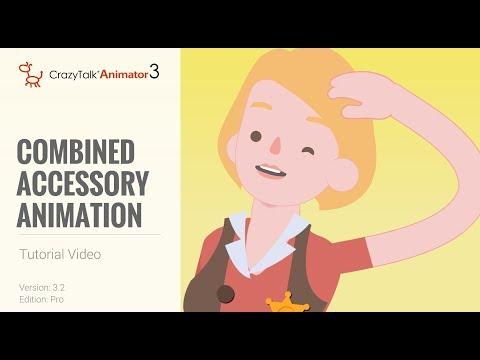 CrazyTalk Animator 3 Tutorial - Combined Accessory Animation