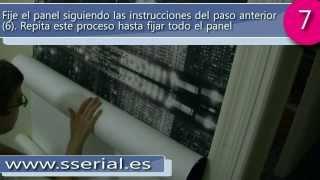 Colocación de un Fotomural en una pared  - Sserial.es -