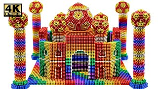 Most Creative - How To Build Taj Mahal From Magnetic Balls (Satisfying) | Magnet World Series