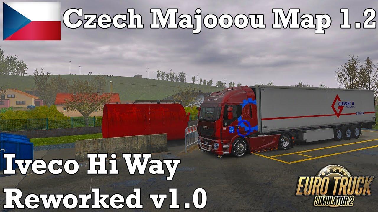 V8 illegal reworked truck v5 0 simulator games mods download - Euro Truck Simulator 2 382 Iveco Reworked V1 0 Czech Majooou Map 1 2