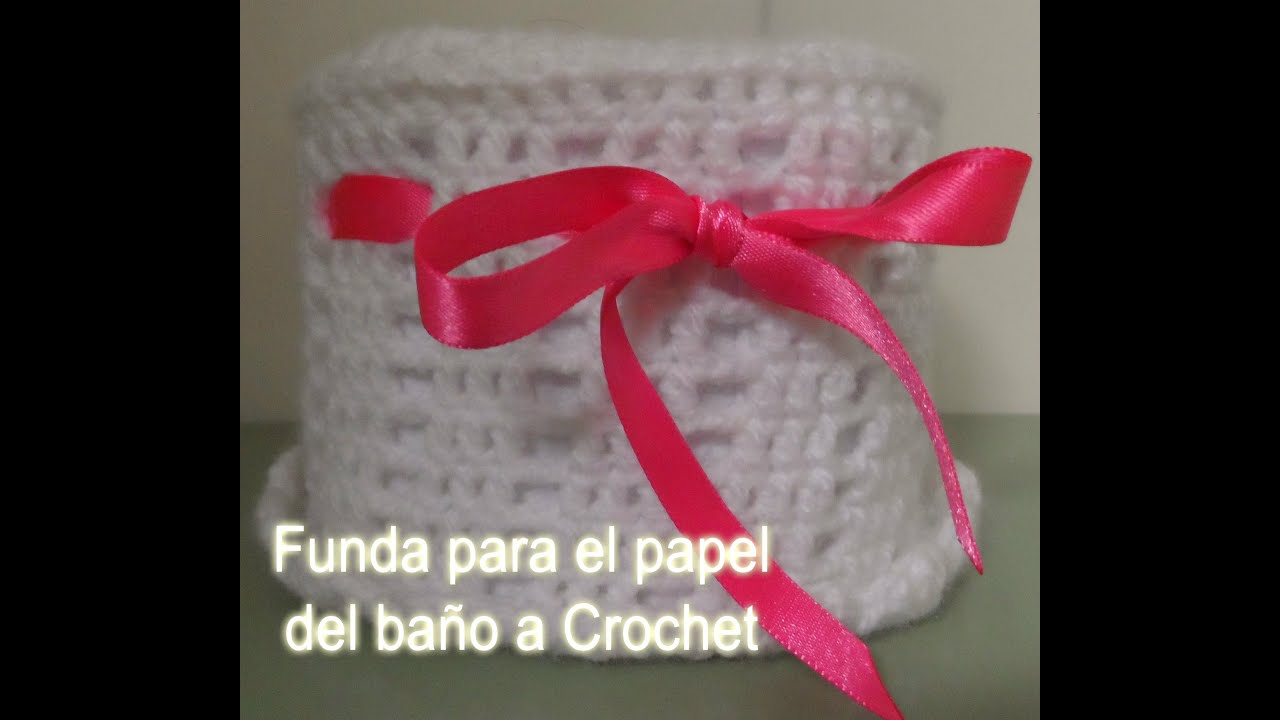 Funda / bolsito para el papel del baño a Crochet- Ganchillo - YouTube