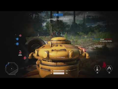 Star Wars Battlefront 2: Kashyyyk Assault AAT Gameplay 40+ Kills