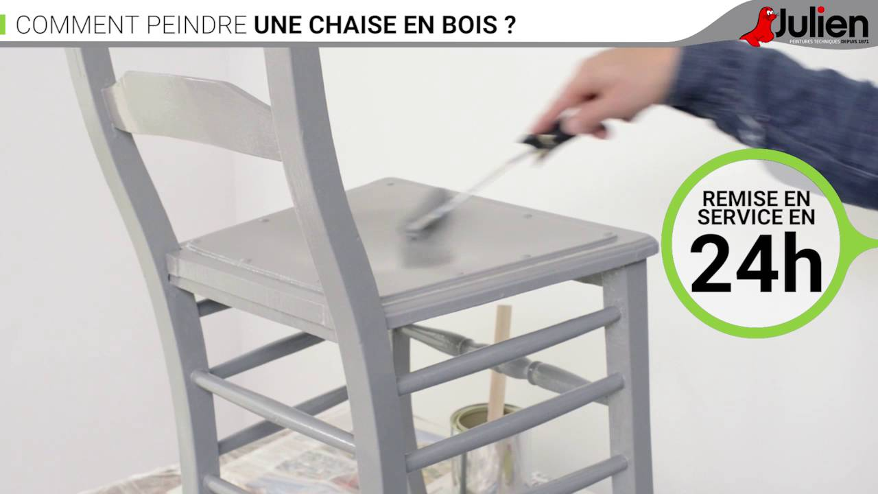 comment peindre une chaise en bois peintures julien youtube. Black Bedroom Furniture Sets. Home Design Ideas