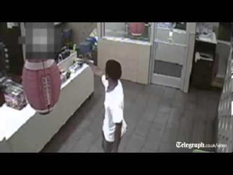 Gunman's McDonald's rampage caught on camera