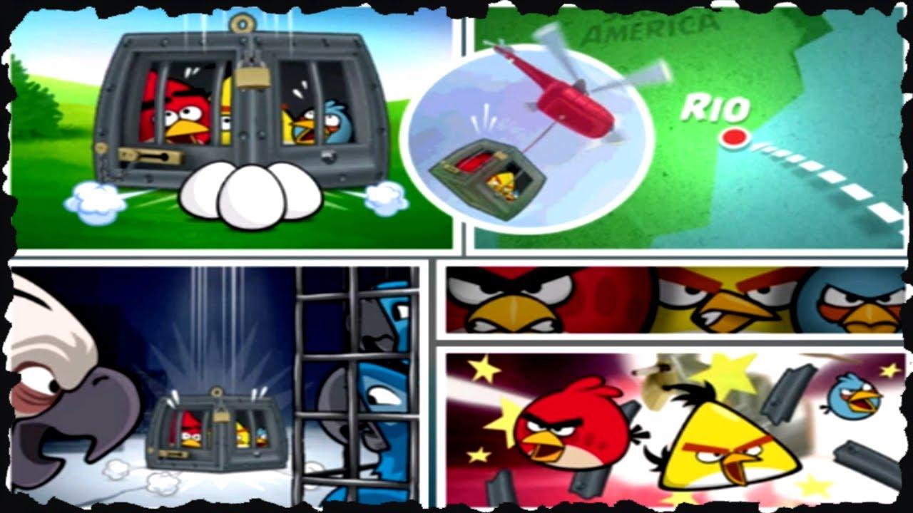 Angry birds rio smuggler 39 s den all levels three star - Angry birds trio ...