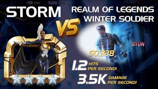 Weathering the Storm: R5 4-Star Storm vs. RoL Winter Soldier | Marvel Contest of Champions