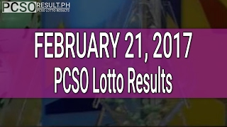 PCSO Lotto Results February 21, 2017 (6/58, 6/49, 6/42, 6D, Swertres & EZ2)