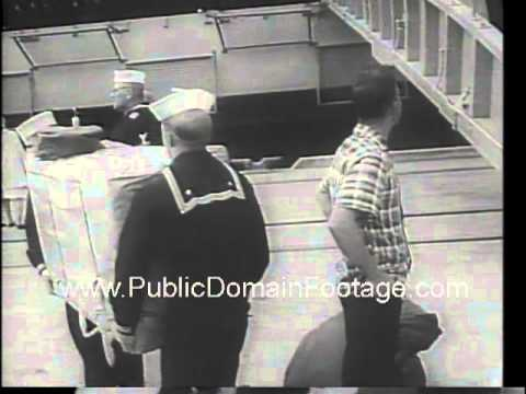 U.S.S. Enterprise returns from Vietnam War 1966 newsreel arc