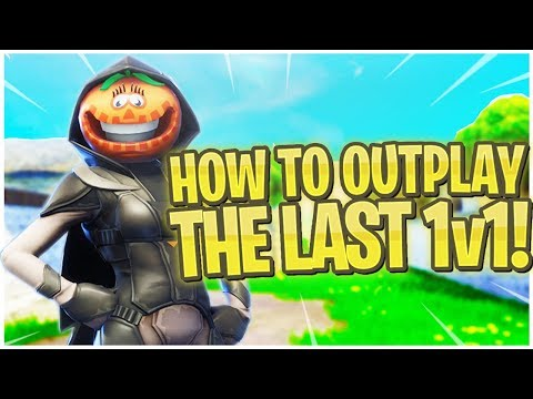 How to OUTPLAY The Last 1v1!  PS4 Pro Fortnite Nightshade Skin Gameplay!