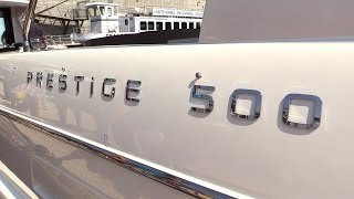 2013 Prestige 500 Motor Yacht - Exterior and Interior Walkaround - 2014 MTL Boat Show
