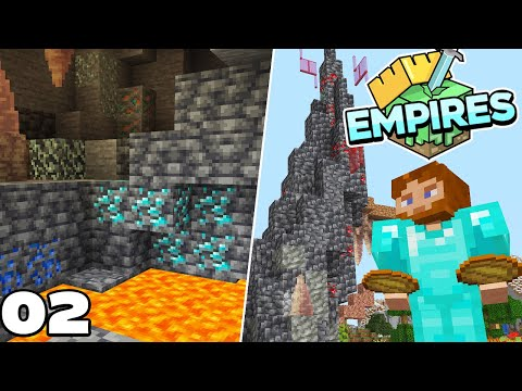EmpiresSMP : Diamond Mining and Trading! Ep #2 Minecraft 1.17 Survival Let's play