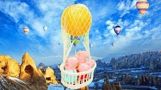 Свинка Пеппа: приключение на воздушном шаре. Мультик с игрушками