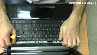 Как заменить клавиатуру на ноутбуке DNS W253.(Это видео инструкция как самому снять и поменять клавиатуру ноутбука ДНС 253 0164630 http://kom-servise.ru/index.php/remont-noutbukov..., 2015-01-09T10:37:26.000Z)
