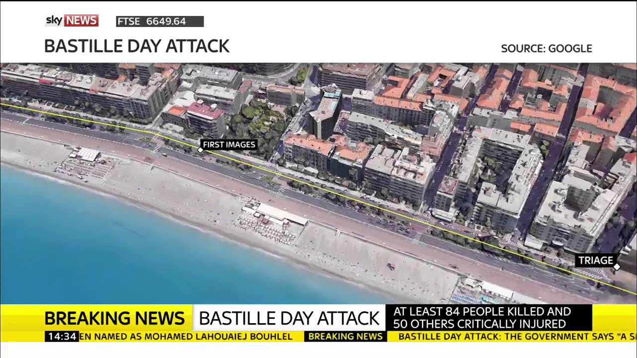 Map Of Attack In Nice YouTube