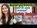 Monthly budget planning  to save money w