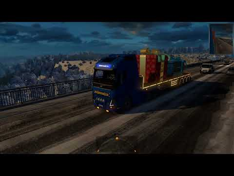 Delivering gifts for ETS 2 Event with Volvo FH540 by Ohaha