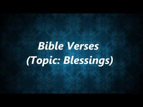 Bible Verses (Topic: Blessings) - YouTube