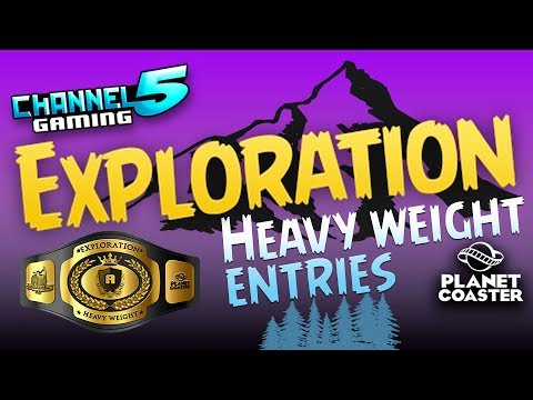 11 Exploration Coasters! Heavy Weight Contest Entries! #PlanetCoaster