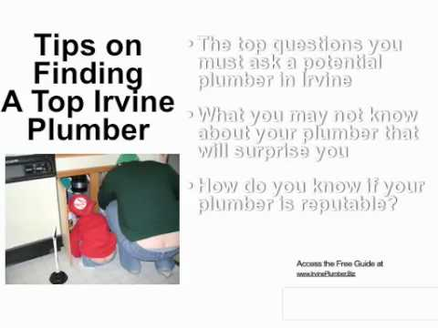 How To Avoid Being Ripped Off By Your Irvine Plumber!