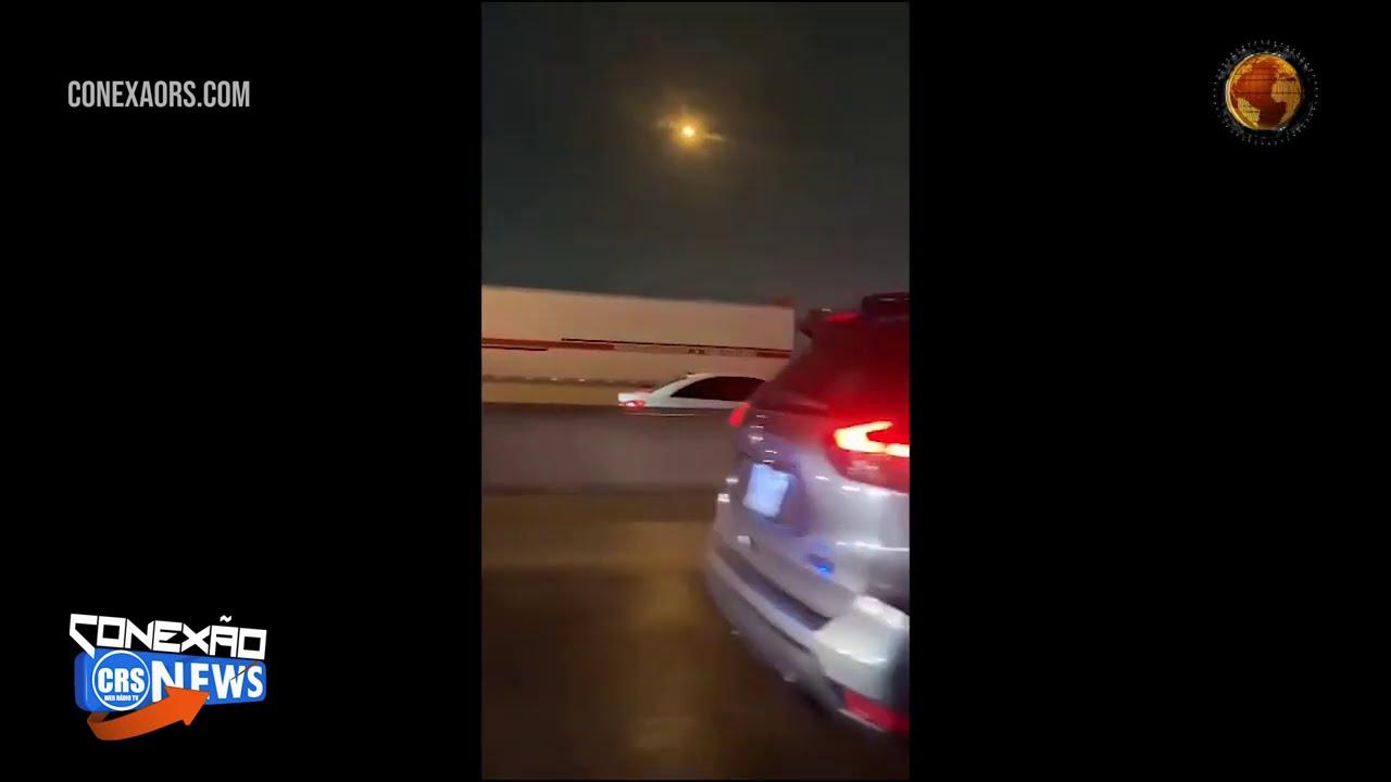 Vídeo do momento exato do acidente Engavetamento no Texas envolveu cerca de 100 carros