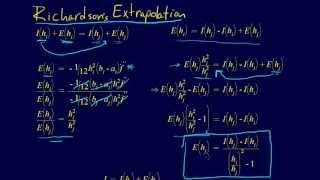 6.2.3-Numerical Integration: Richardson Extrapolation Derivation