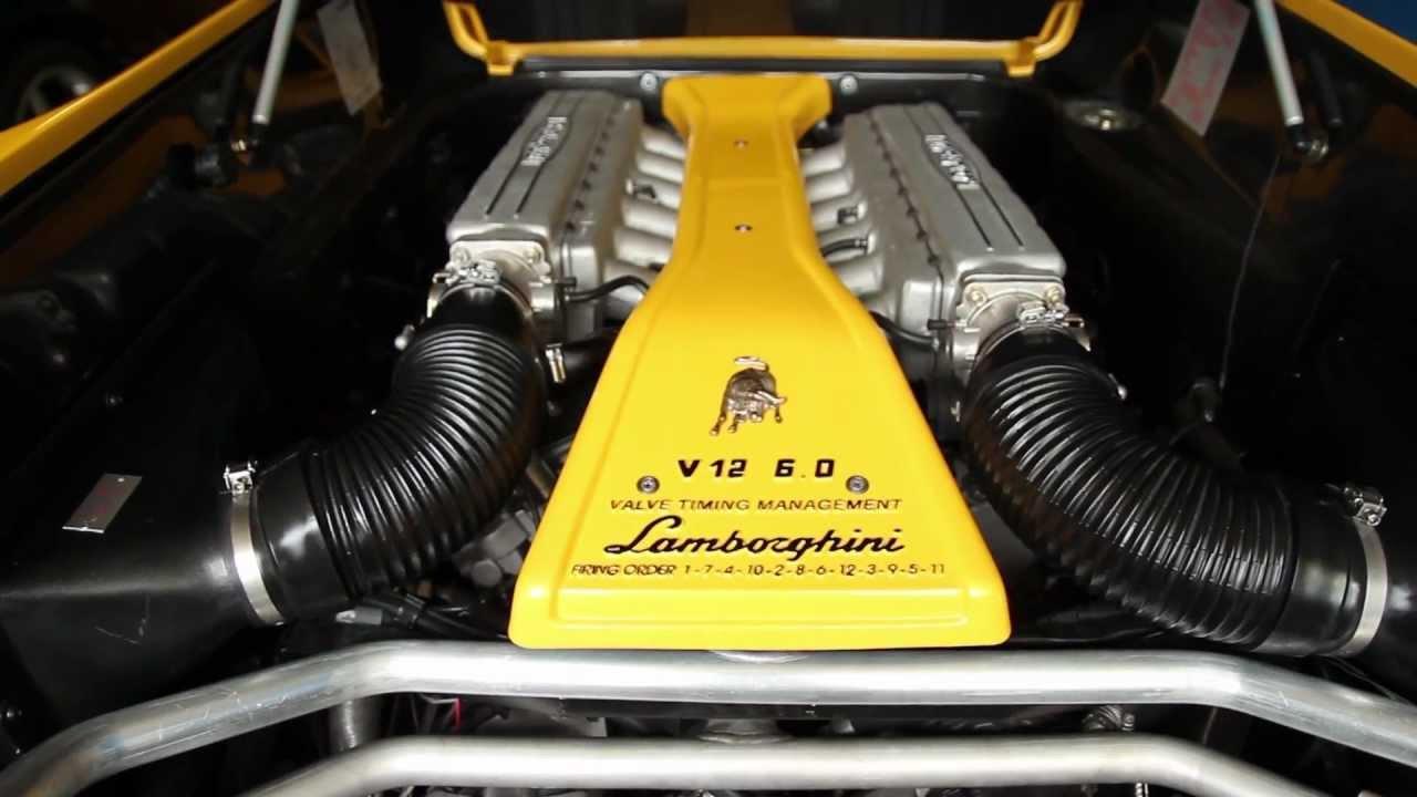 Inside The V12 6 0l Engine Bay Of My Lamborghini Youtube