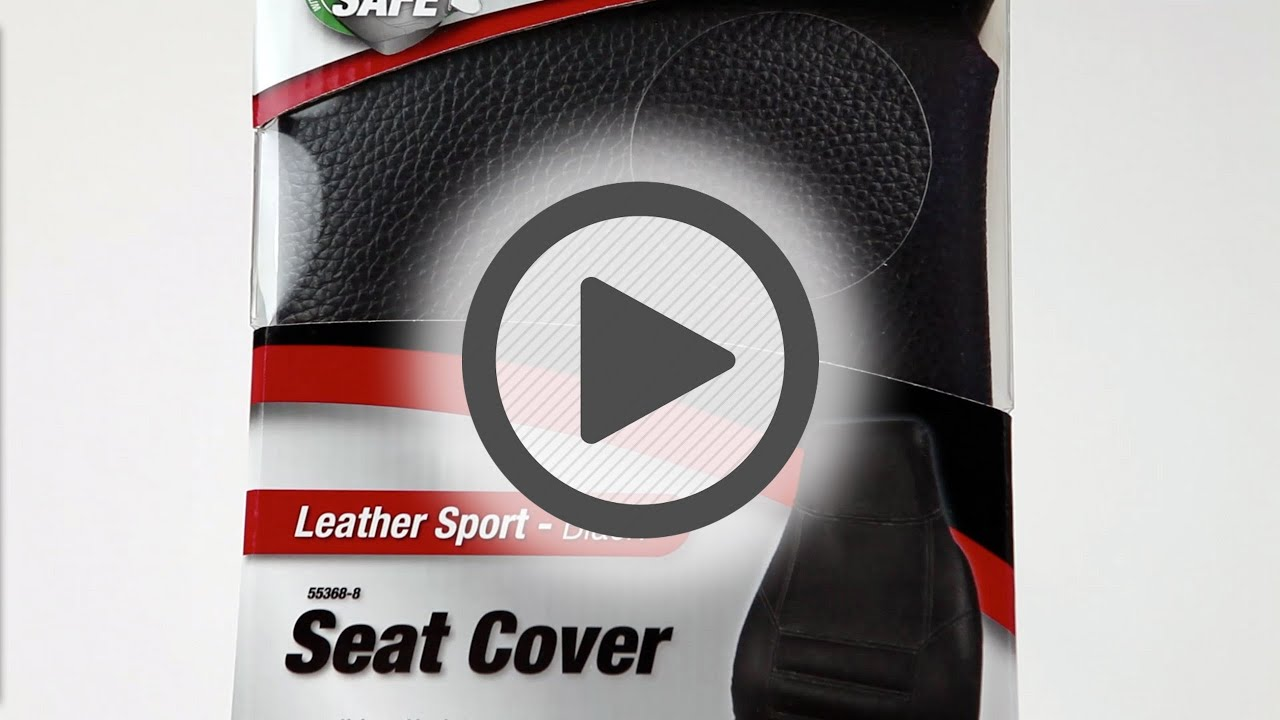 Bell Automotive Black Leather Bucket Seat Cover Pep Boys