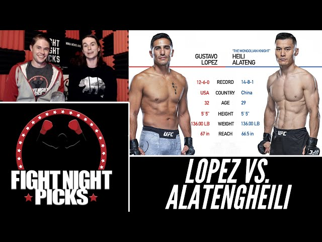 UFC Fight Night: Gustavo Lopez vs. Alatengheili Prediction
