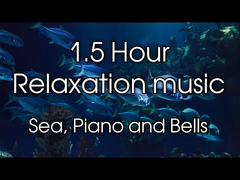 1.5 Hour of Relaxing Music - Study, Meditation, Sleep, Spa. Piano, Calm Sea and Bells ☀︎ 027