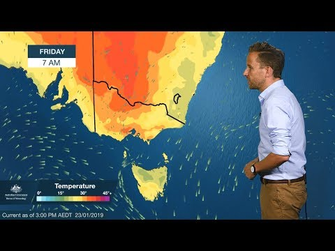 Severe Weather Update: Heatwave In South Australia, Victoria And Tasmania 23 January 2019