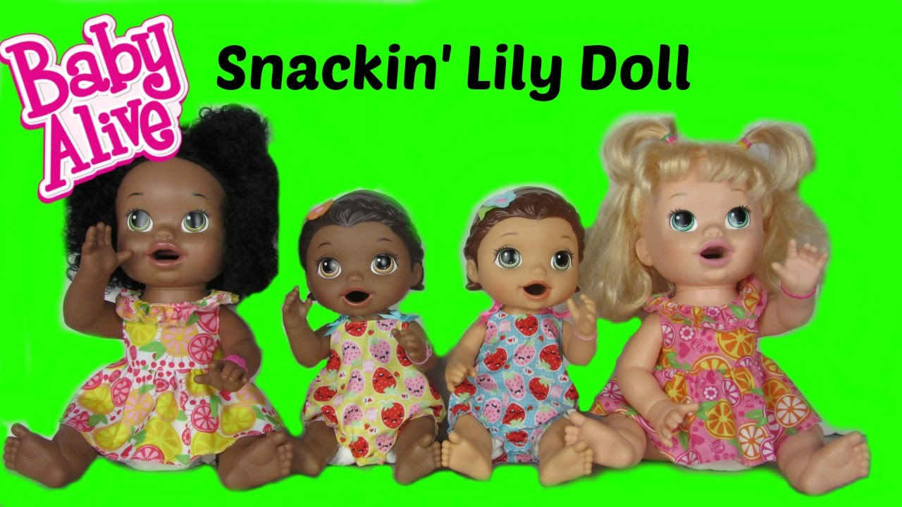 Baby Alive Super Snackin Lily Sisters Unboxing Feeding