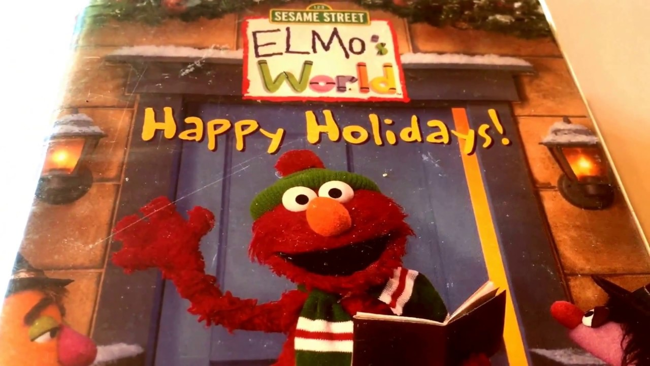 Sesame Street Elmo S World Happy Holidays Vhs Movie Collection