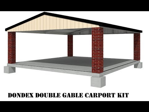 How to build a dondex double gable carport youtube for Double carport plans