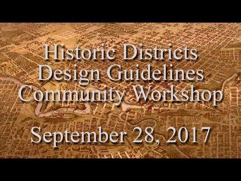 Historic Design Workshop 09282017