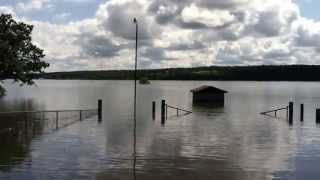 Taylor Ferry North Swimming Area; Fort Gibson Lake At Near Record High Level