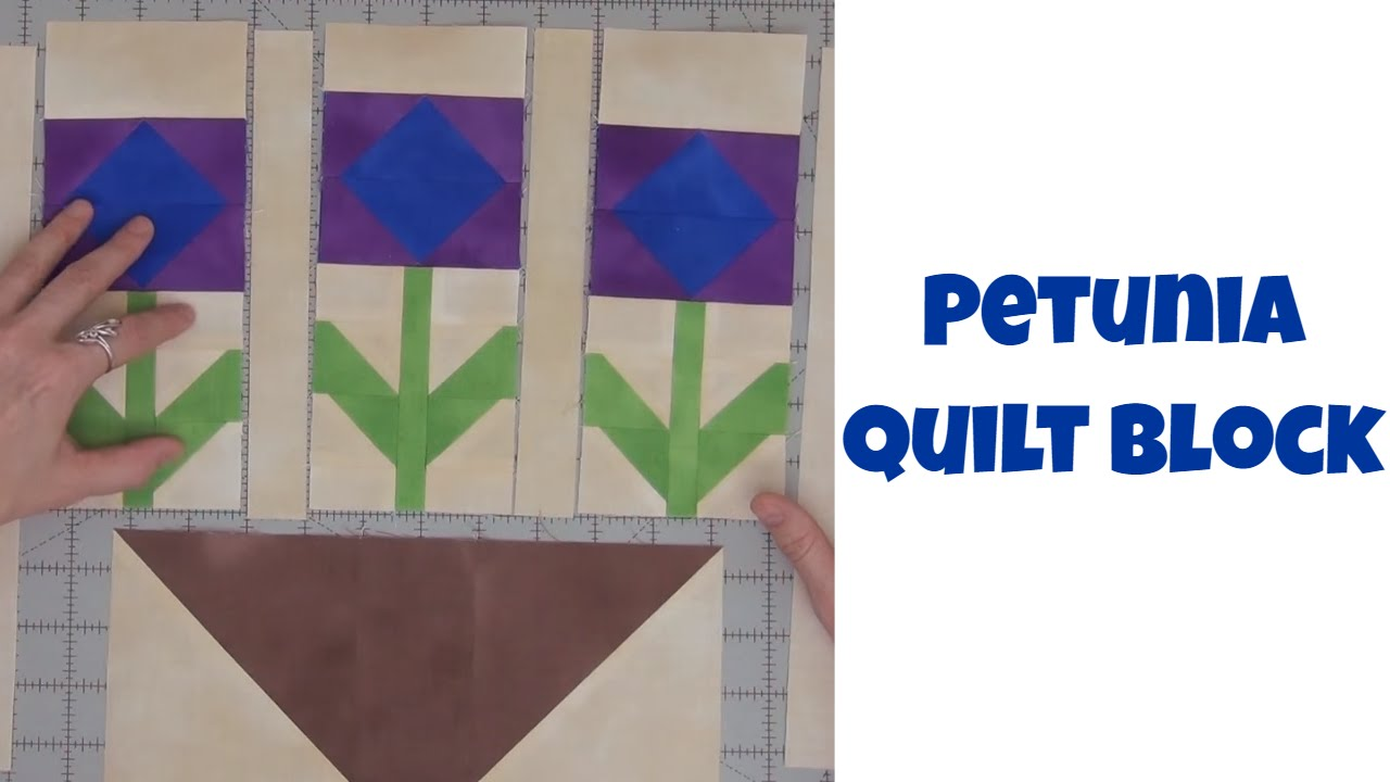 How To Make A Pot Of Petunias Quilt Block Traditional Patchwork