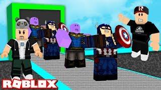 Kim Daha Güçlü? Thanos ve Kaptan Amerika Fabrikası Kurduk!! - Panda ile Roblox Superhero Tycoon