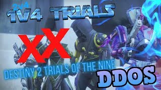 Team DDOSed in Destiny 2 Trials of the Nine! 1v4 Trials with Sick Plays (Lost)