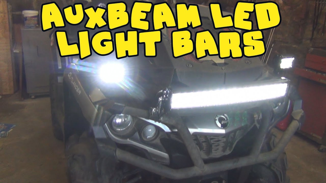 atv light bar instalation auxbeam led light bars on can am