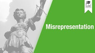 Contract Law - Misrepresentation