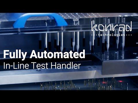 Automated In-Line Test Handler | Konrad Technologies LEON Inline Flex Cell
