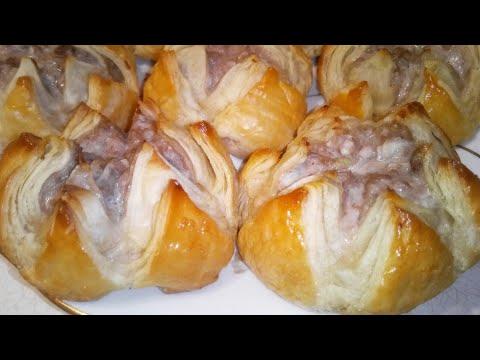 Необычные Слоеные Пирожки с Мясом. Пирожки из слоеного теста.