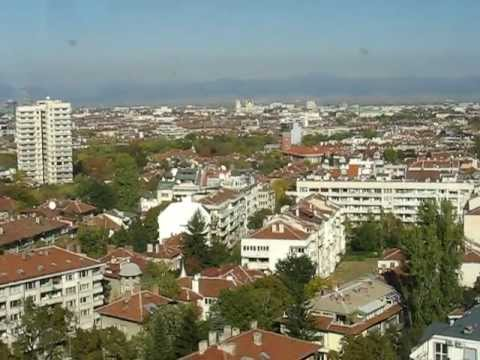 Sofia Bulgaria, City panorama seen from top of the hotel Hemus (2011)
