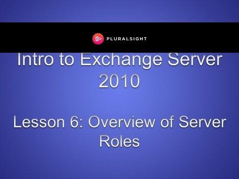 Exchange Server 2010 Server Roles