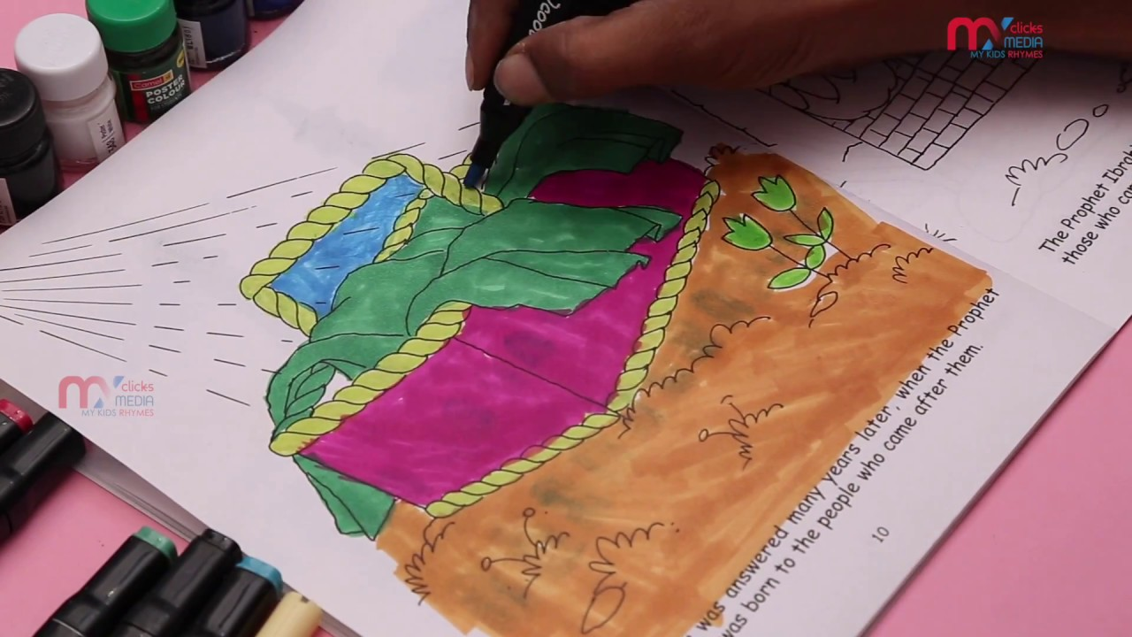 coloring pages for kids colorful bed best learning video for