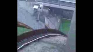 Ski jumper falls bad