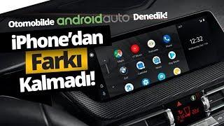 Android telefonu otomobile yansıttık! BMW M8'de Android Auto!