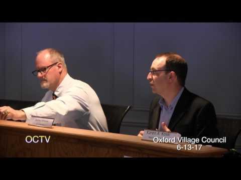 Oxford Village Council 6-13-17